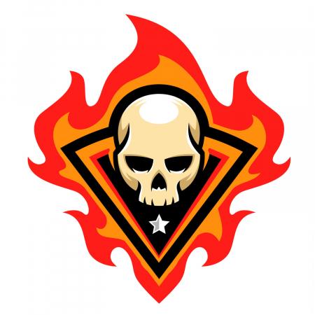 Sticker auto&moto - Skull on fire [1]