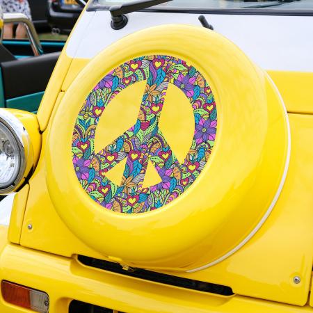 Sticker auto - Peace boho style [0]