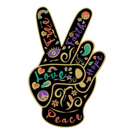 Sticker auto - Peace&love boho style [1]