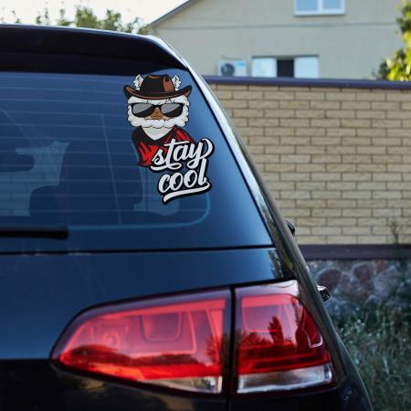 Sticker auto - Stay cool llama [0]