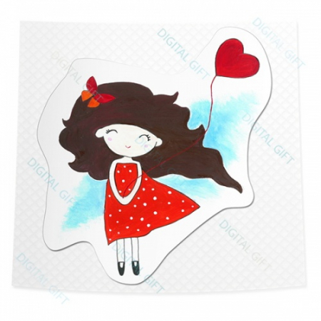 Sticker clasic - Ah! Inima mea [0]