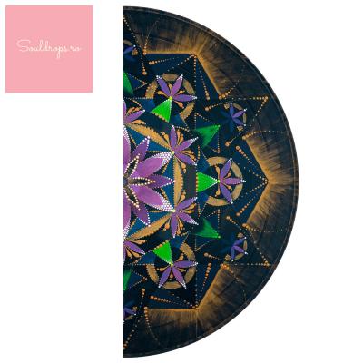 """Sticker demi pentru ușă - Mandala """"Conștiința extinsă""""1"""