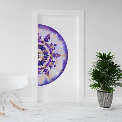 """Sticker demi pentru ușă - Mandala """"Coroana""""0"""