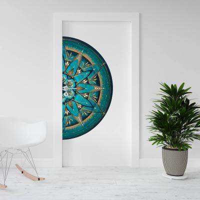 """Sticker demi pentru ușă - Mandala """"Despre adevăr""""0"""