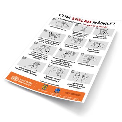 """Sticker informativ Covid-19 - """"Cum spălăm corect mâinile?""""2"""