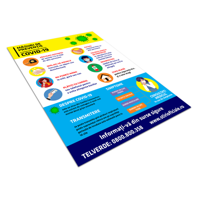 "Sticker informativ Covid-19 - ""Măsuri de prevenție""2"