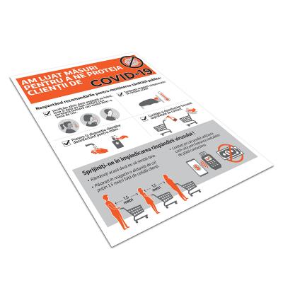 """Poster informativ Covid-19 - """"Măsuri de protecție pentru clienți""""2"""