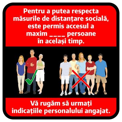 "Sticker informativ Covid-19 - ""Număr maxim de persoane admis""0"