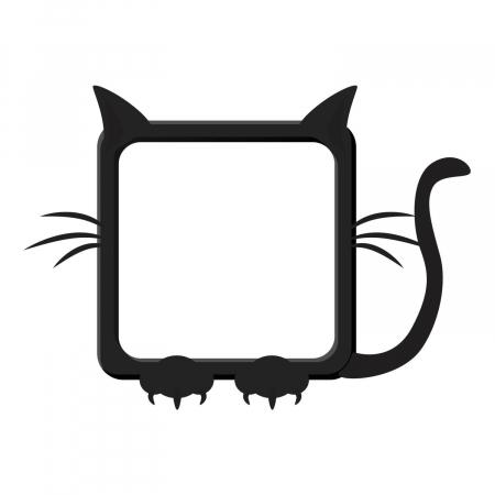 Sticker pentru întrerupător - Rama pisică [1]