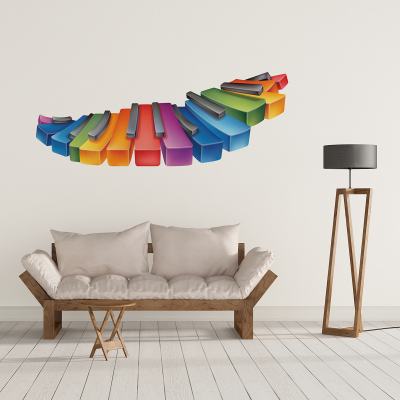 Sticker pentru perete - Clape de pian0