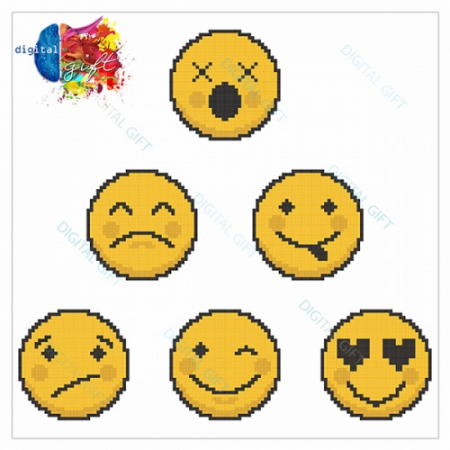 Pachet de stickere pentru perete - Emoji 012