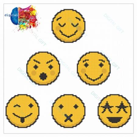 Pachet stickere pentru perete - Emoji 022