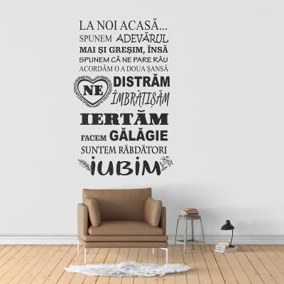 Sticker pentru perete - La noi acasă0