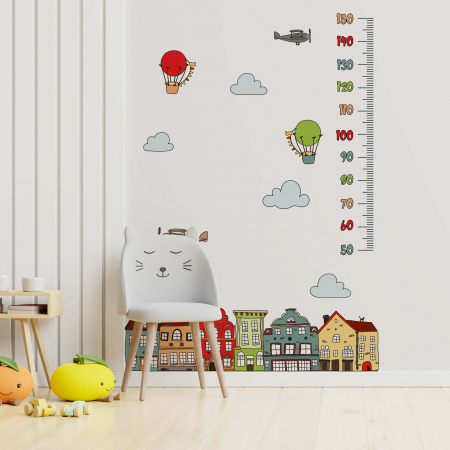 Sticker decorativ de perete - Metru cu baloane [0]