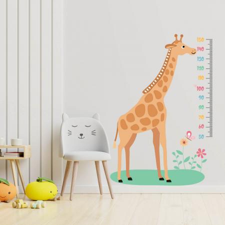 Sticker pentru perete - Metru cu girafă0