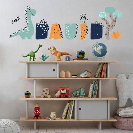 Sticker pentru perete personalizat - Lumea lui Dino [0]