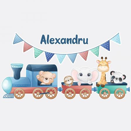 Sticker pentru perete personalizat - Trenulețul de la zoo1
