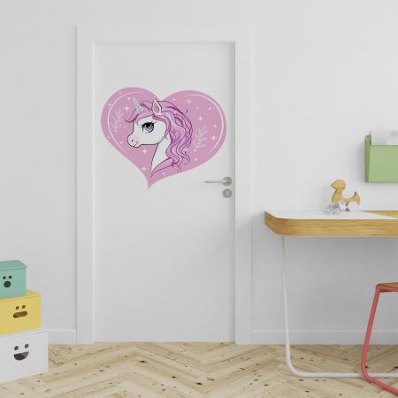 Sticker pentru ușă - Sunt un unicorn0