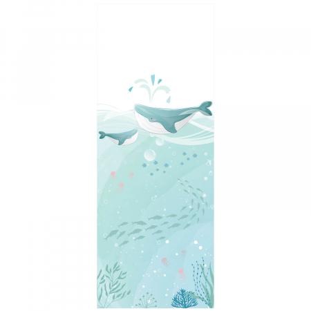 Sticker pentru ușă - Viața de sub mări1