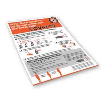 Sticker prevenție Covid-19 bilingv - Recomandări pentru clienții Horeca2