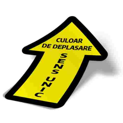 Sticker prevenție Covid-19 pentru pardoseală - Săgeată2