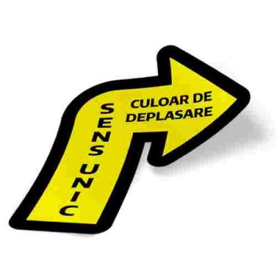 Sticker prevenție Covid-19 pentru pardoseală - Săgeată spre dreapta2