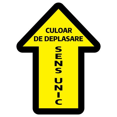 Sticker prevenție Covid-19 pentru pardoseală - Săgeată0