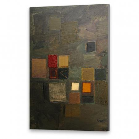 Tablou simplu - Abstract, ritm de toamnă0