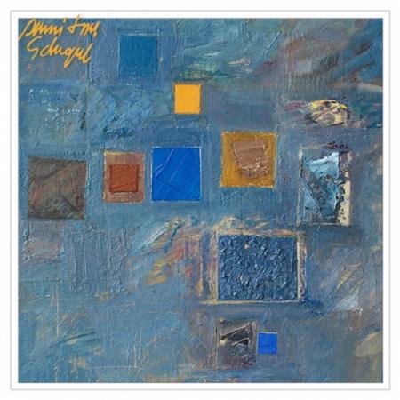 Tablou simplu - Abstract, ritm pe albastru1