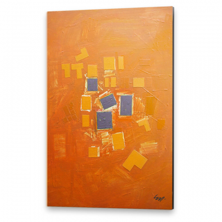 Tablou simplu - Abstract, ritm pe oranj0