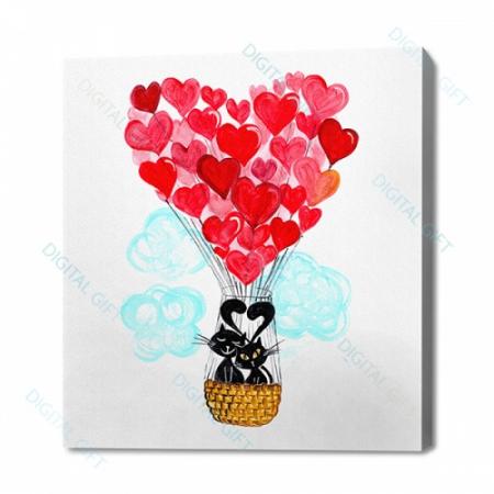 Tablou simplu - Balonul dragostei0