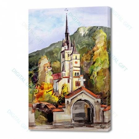 Tablou simplu pe canvas - Biserica Sf. Nicolae, Brasov [0]