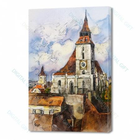 Tablou simplu - Ceasul Bisericii Negre, Brașov0