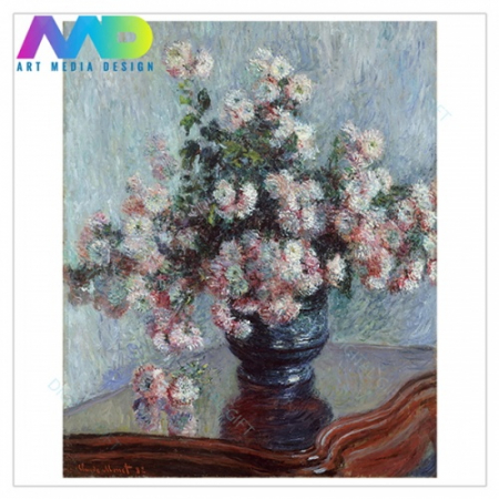 Tablou simplu - Claude Monet - Chrysanthemums1