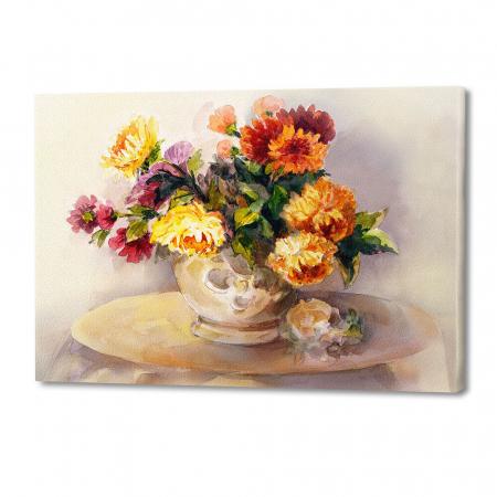 Tablou simplu - Crizanteme în vază [0]