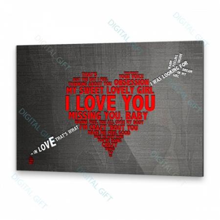 Tablou simplu - E scris în inimă2