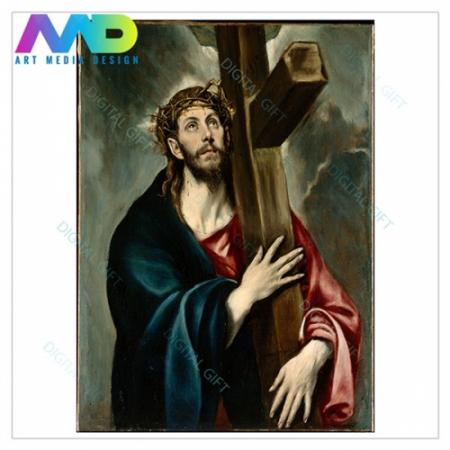 Tablou simplu - El Greco - Christos cu crucea [1]