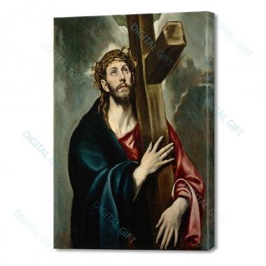 Tablou simplu - El Greco - Christos cu crucea [0]