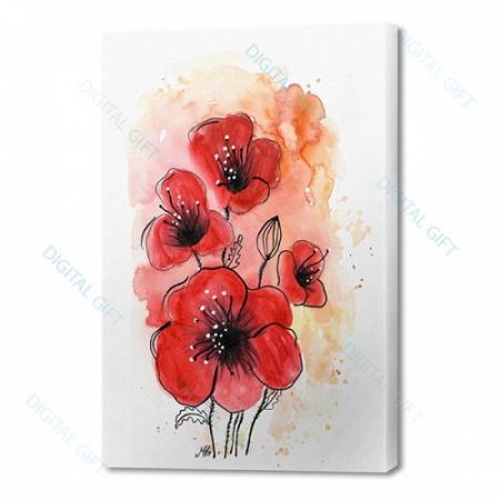Tablou simplu - Flori de mac0