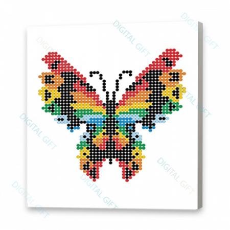 Tablou simplu - Fluture stilizat0