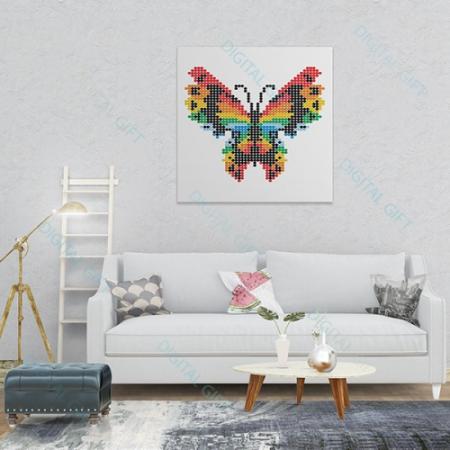 Tablou simplu - Fluture stilizat1