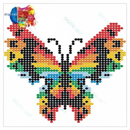 Tablou simplu - Fluture stilizat2