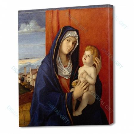 Tablou simplu - Giovanni Bellini - Madonna și pruncul0