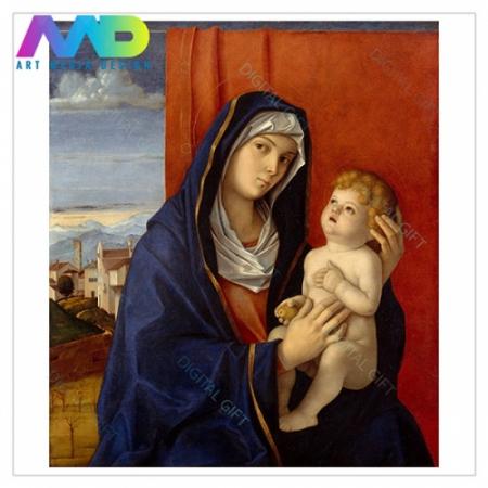 Tablou simplu - Giovanni Bellini - Madonna și pruncul1