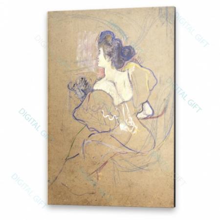 Tablou simplu - Henri de Toulouse-Lautrec - Madame Thadée Natanson at the Theater0
