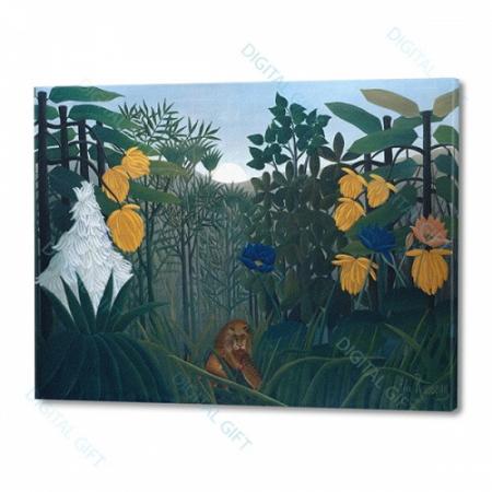 Tablou simplu - Henri Rousseau - Ospățul leului0