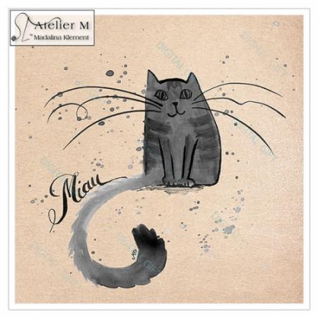 Tablou simplu - Miau, Miau [1]