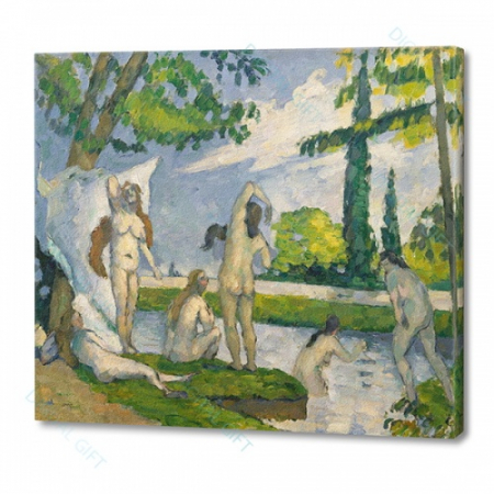 Tablou simplu - Paul Cézanne - La scăldat0