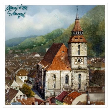 Tablou simplu - Turnul Bisericii Negre, Brașov1