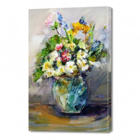 Tablou simplu - Vază cu flori0
